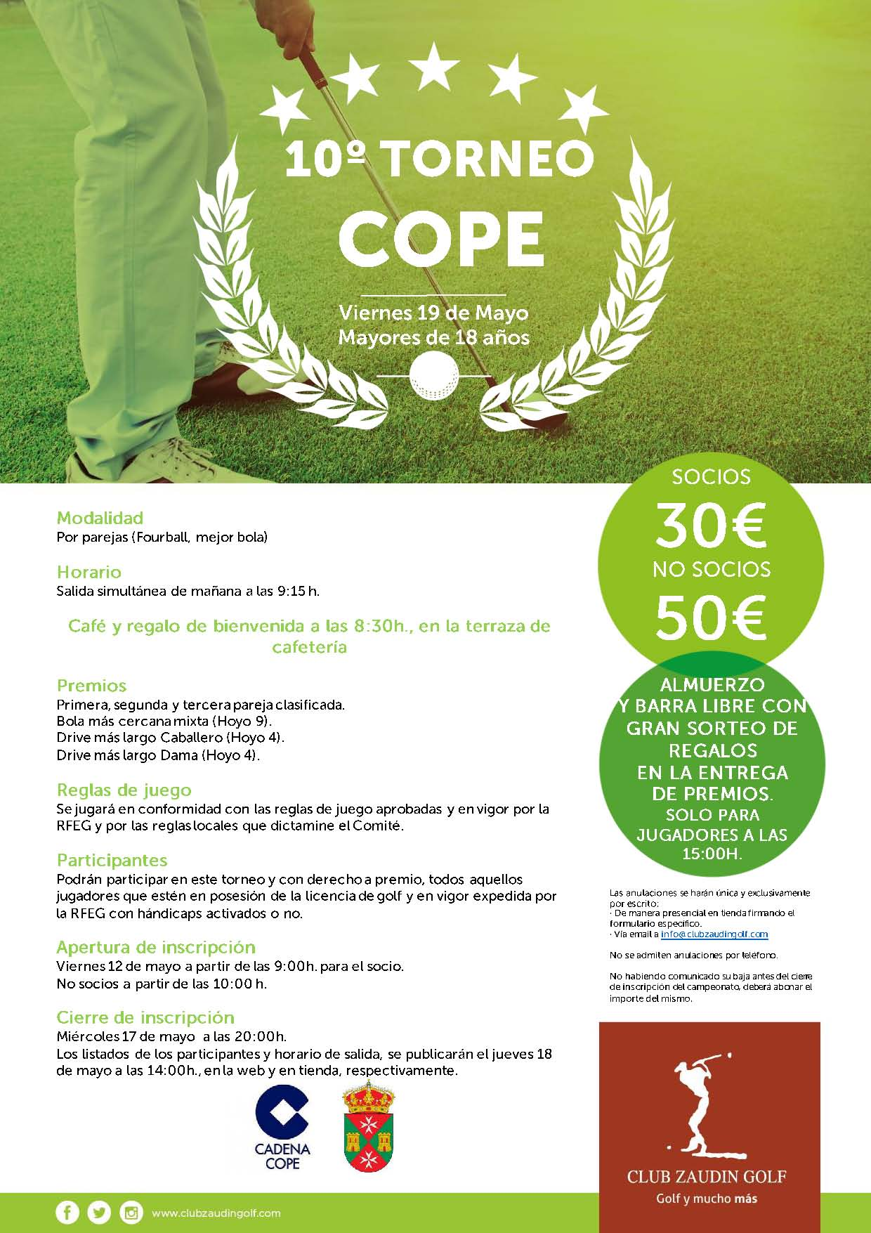 10º Torneo Golf Cope