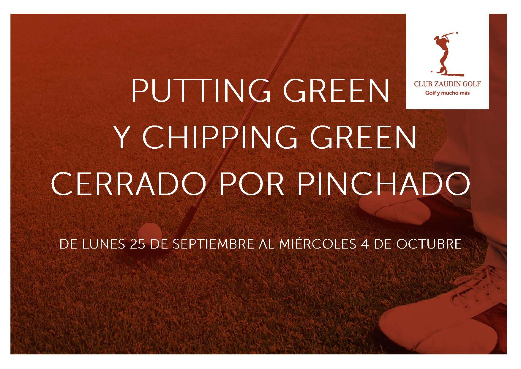 Cierre Putting-green y Chipping Green Septiembre 2017