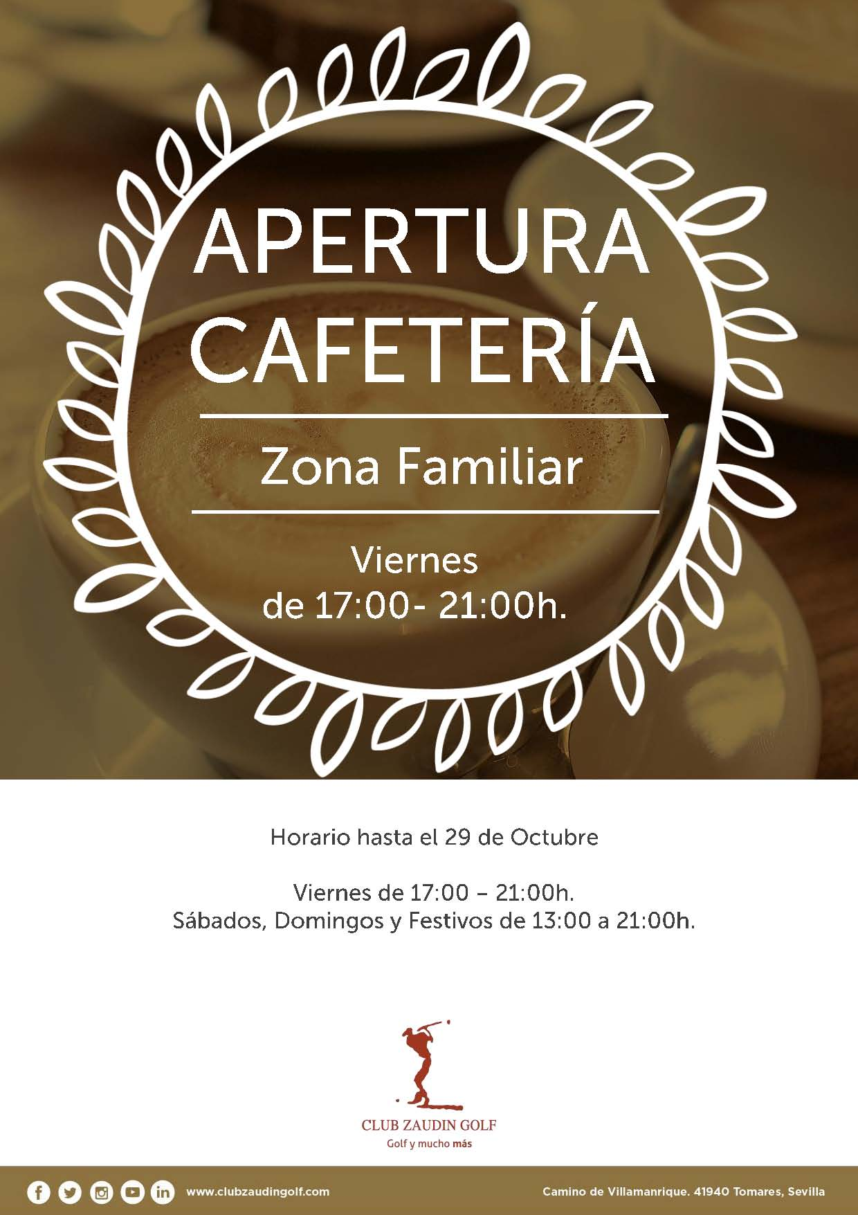 Horario Cafeteria Zona Familiar
